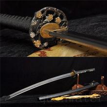 Fleur TSUBA pliée en acier 41   Épée samouri japonais KATANA très tranchante