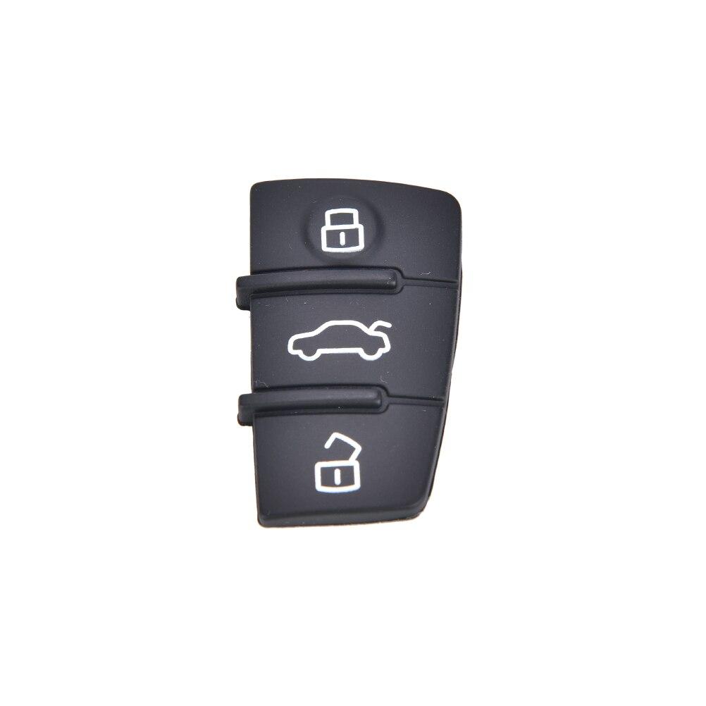 Reparación 1 Uds llave remota FOB 3 almohadilla de goma botón reemplazo ajustes para Audi A3 A4 A6 TT Q7