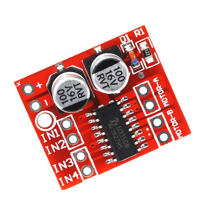 1 PC 2.5A L298N Dual Channel DC Motor Driver Module Power-enhanced Motor Drive Mini Module Speed Control Beyond