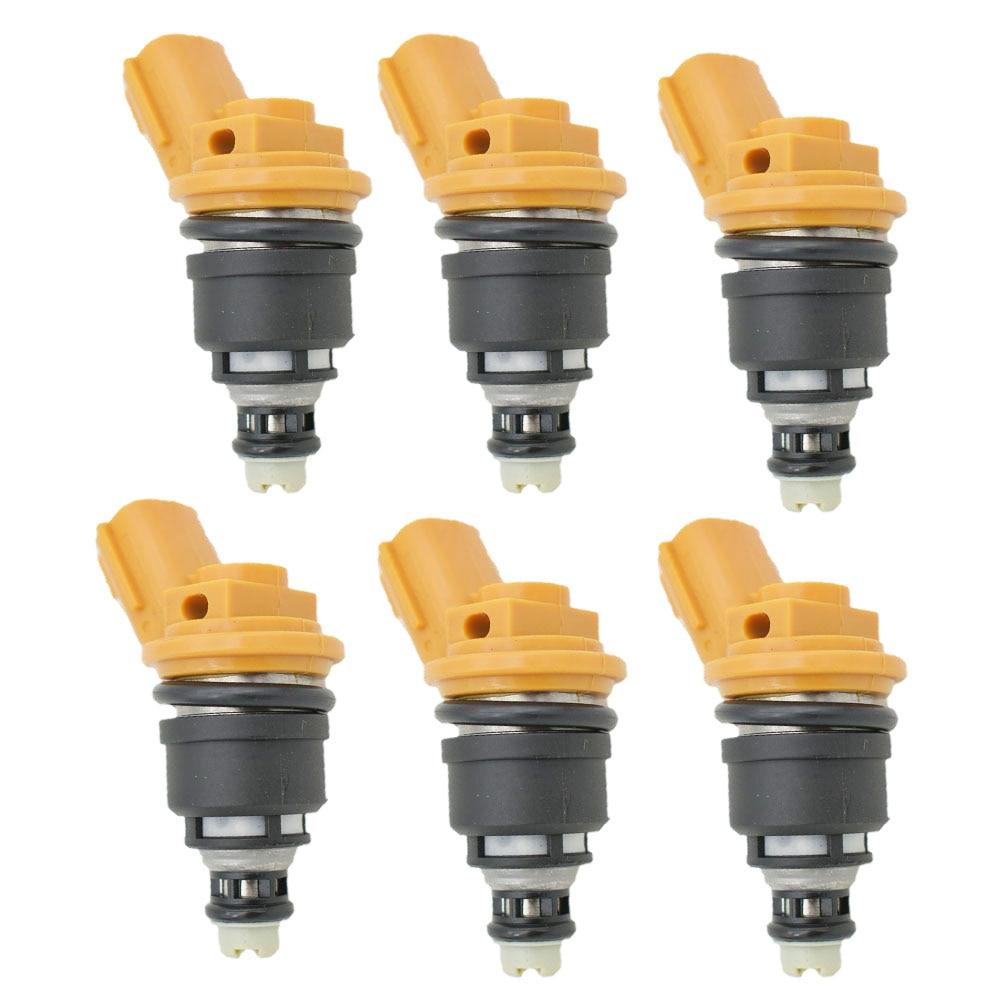 6 teile/los hohe leistung 555cc Nismo seite kraftstoff injektor 16600-RR543 gelb für nisaan 300ZX Z32 RB25DET VG30DETT SR20DET KA24
