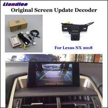 Caméra de stationnement de recul HD pour Lexus NX 2018 vue arrière caméra de recul décodeur accessoires système dalarme