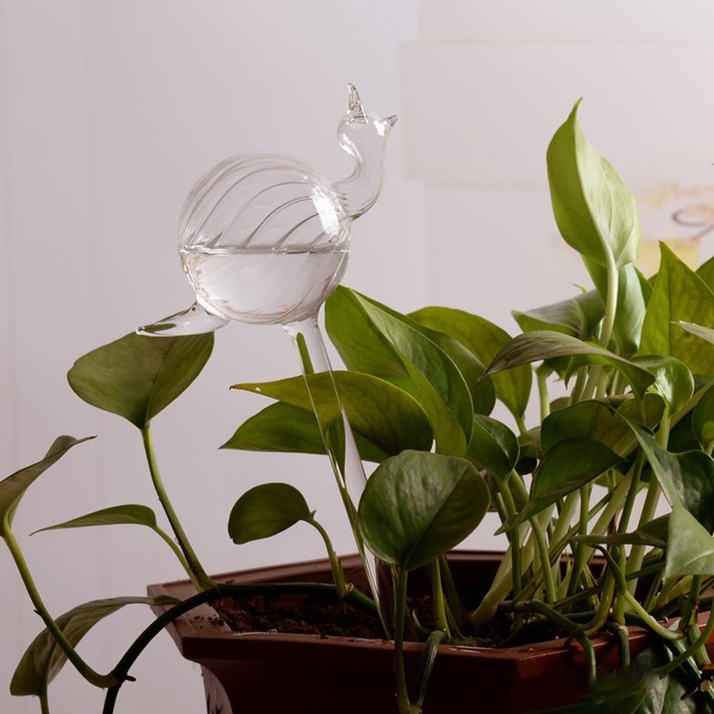 For Garden Plant Watering Device Indoor Automatic Cute Birds Snail Swan Glass Watering Sprinkler Bird Shape Arrosage Sprayer#25