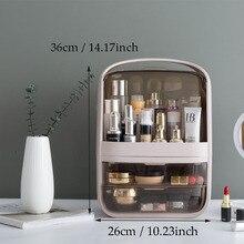 Zoreya grande capacité organisateur de maquillage étanche à la poussière salle de bain cosmétique boîte de rangement bureau beauté tiroir de rangement