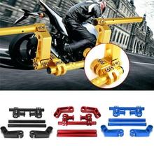 Регулируемая версия для мотоцикла, 7/8 дюйма, 22 мм, съемная рукоятка, система для питбайка 125cc, кроссового велосипеда, мотоцикла, скутера
