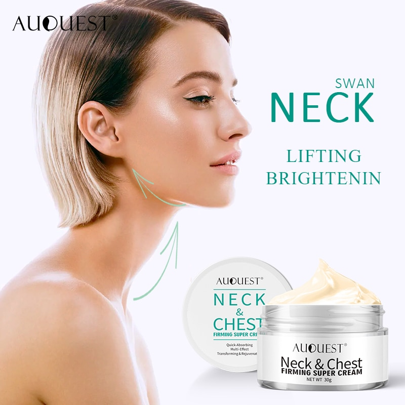 120g anti wrinkle neck firming cream moisturizing remove wrinkle cream whitening skin care beauty firming cream AUQUEST Wrinkle Cream Neck Skin Firming Anti Wrinkle Whitening Cosmetics Skin Care Products For Neck 30g