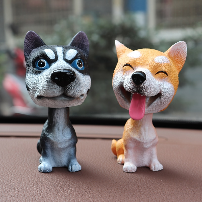car ornaments nodding lovely resin shaking head interior decorations accessories for vehicle decorating cars Puppy Car Accessories Interior Decoration Automotive Goods Nodding Funny Shaking His Head Toy Shaking His Head Dog In Car