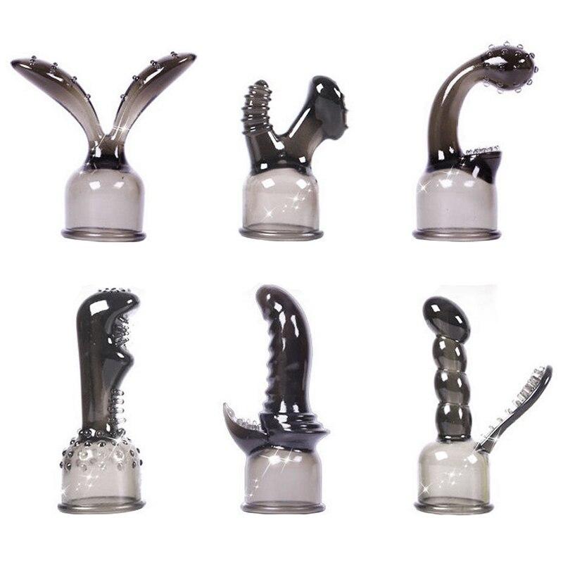 G-spot Stimulate Vibrator Accessories Magic Wand Attachment 1 Piece Silicone Adult Sex Toys for Women AV Rod Head Cap