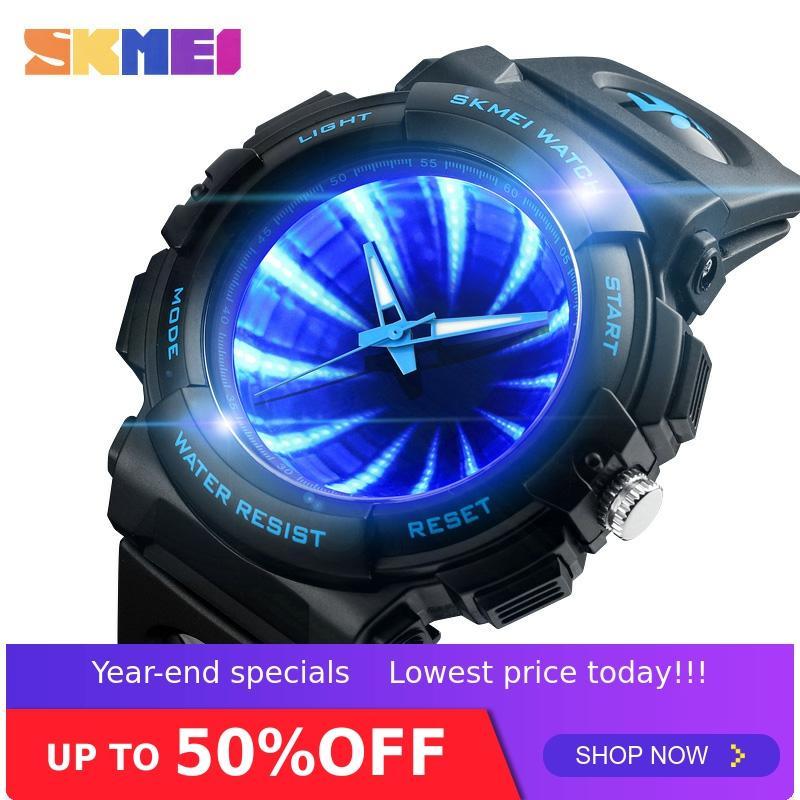 Relojes de moda SKMEI, genial reloj para hombre, marca superior de lujo, 5Bar, impermeable, creativo, reloj de pulsera de cuarzo para hombre, reloj masculino 1521