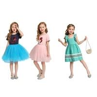kids girls tulle dress mermaid rose pleated skirt solid color pattern clothing skirt suspender skirt