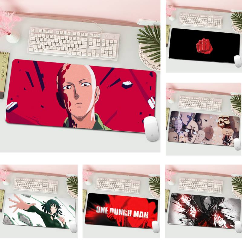 One Punch Rubber PC Computer Gaming mousepad Gaming Mousepad XL Large Gamer Keyboard PC Desk Mat Computer Tablet Mouse Pad
