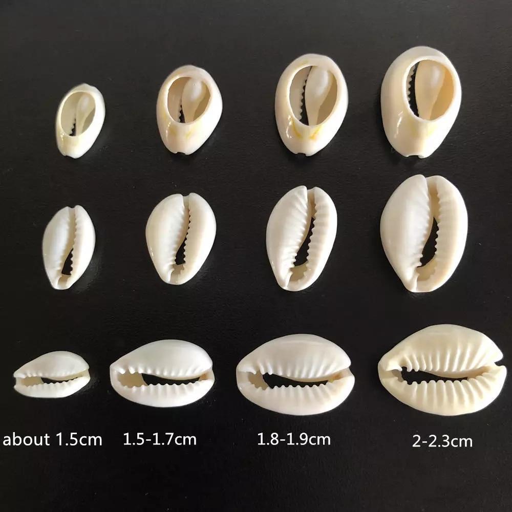 Бусины из белых морских ракушек для изготовления ювелирных изделий «сделай сам», бусины-каури для ожерелий, браслетов, аксессуаров, комплек...