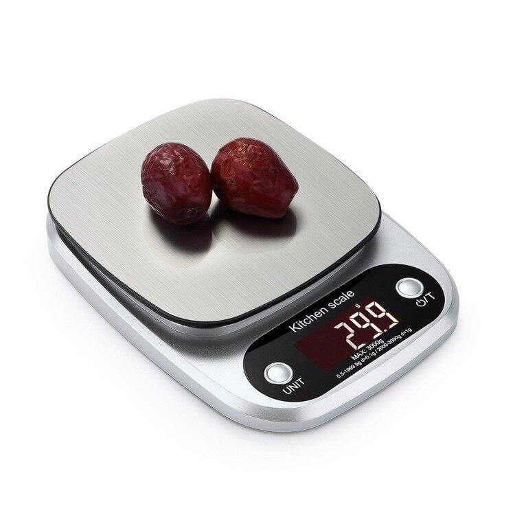 10kg 3kg escala de cozinha eletrônica balança de cozinha digital balança de peso de aço inoxidável com display lcd ferramenta de cozinha