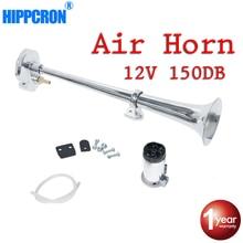 Hippcron Air klaxon 150DB 12V Super fort unique trompette compresseur ensemble complet pour camions voitures Automobiles camion bateau Train