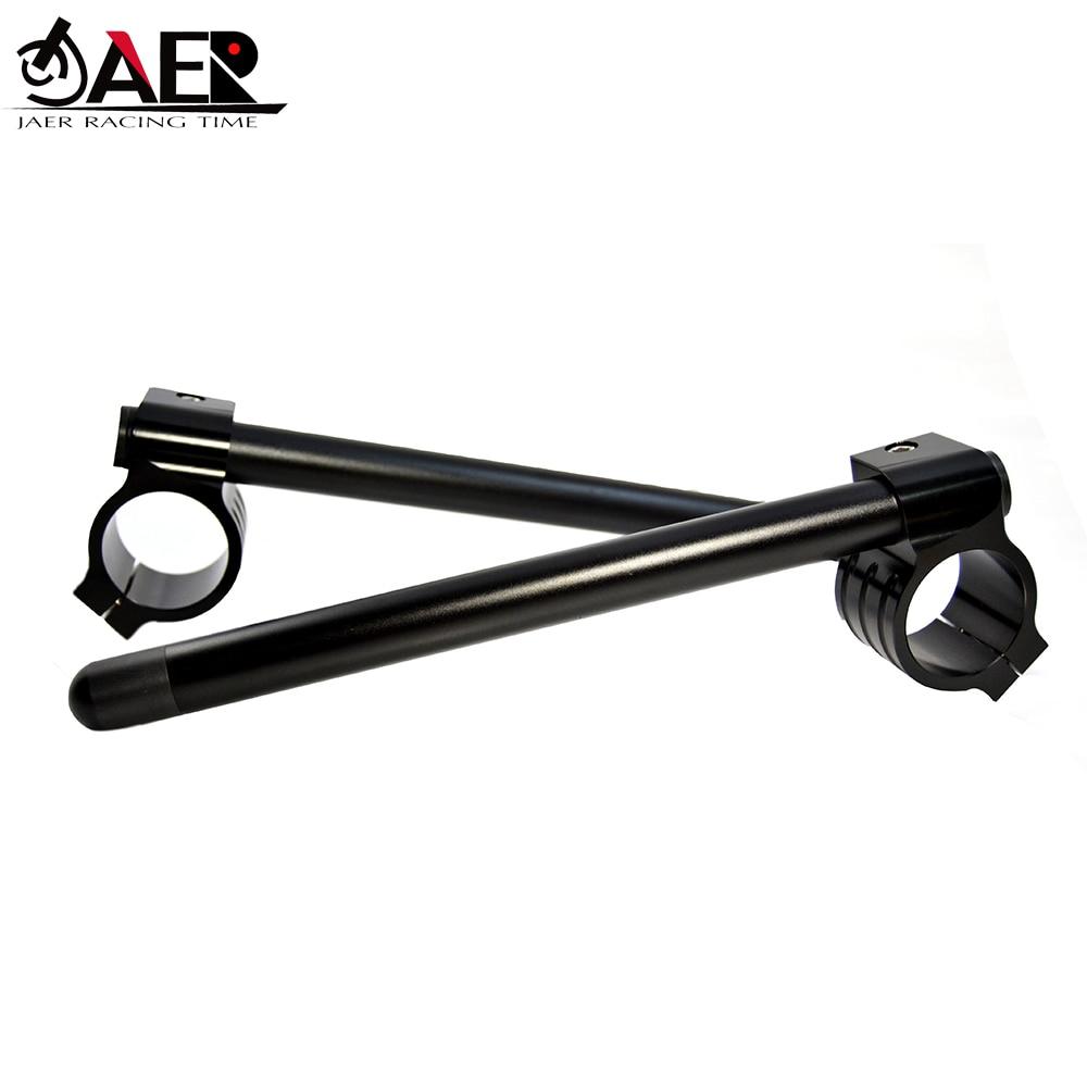 "Jaer motocicleta 7/8 ""46mm clip on ajustável guiador garfo braçadeira para kawasaki zx6r zx9r zrx1100 zrx1200"