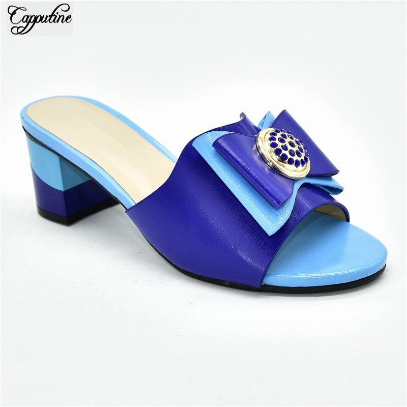Gran oferta azul cielo con zapatos de tacón africanos de diseño azul real para boda/fiesta 88-15 Altura del tacón 5,5 CM