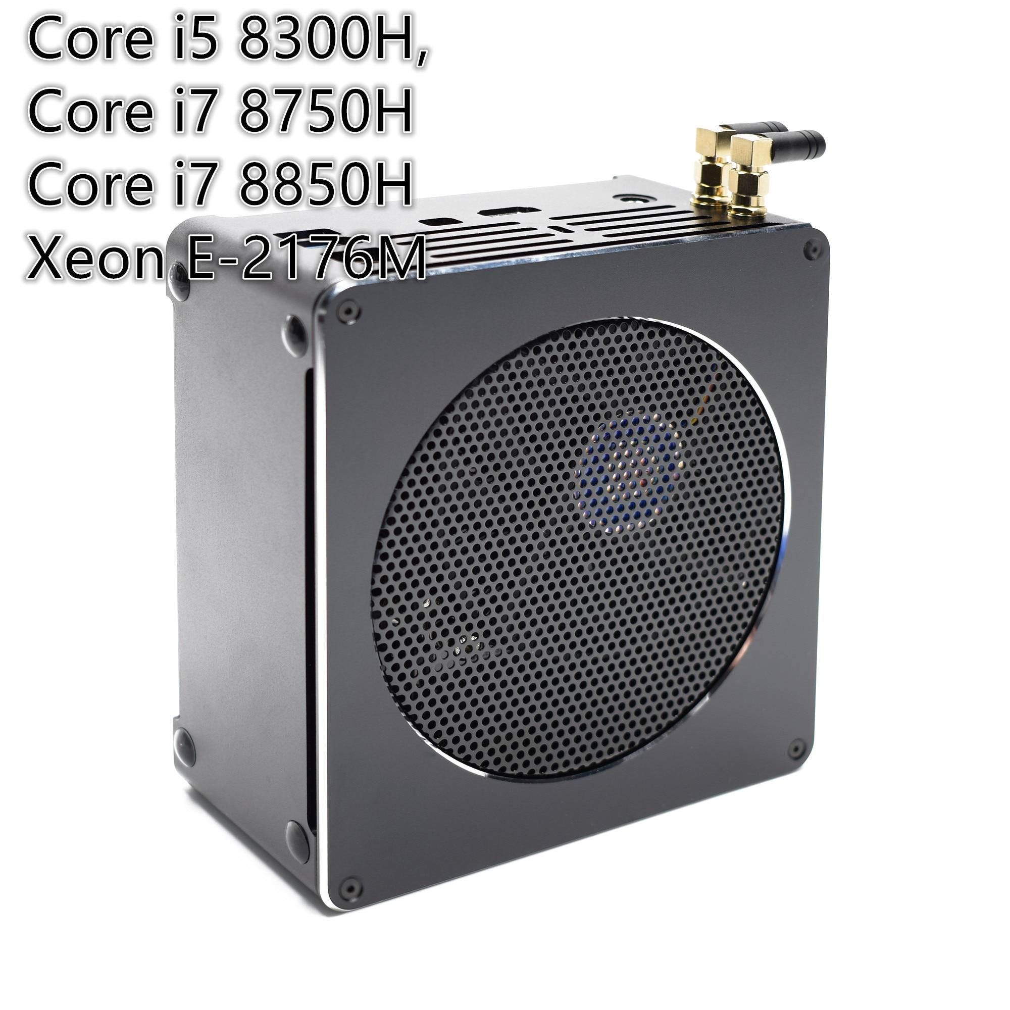 De alta calidad de juego de Mini PC i7 8750H/8850H I5 8300H E3-1505M 6 Core 12 hilos 64GB DDR4 con AC Wifi Win10 Pro computadora