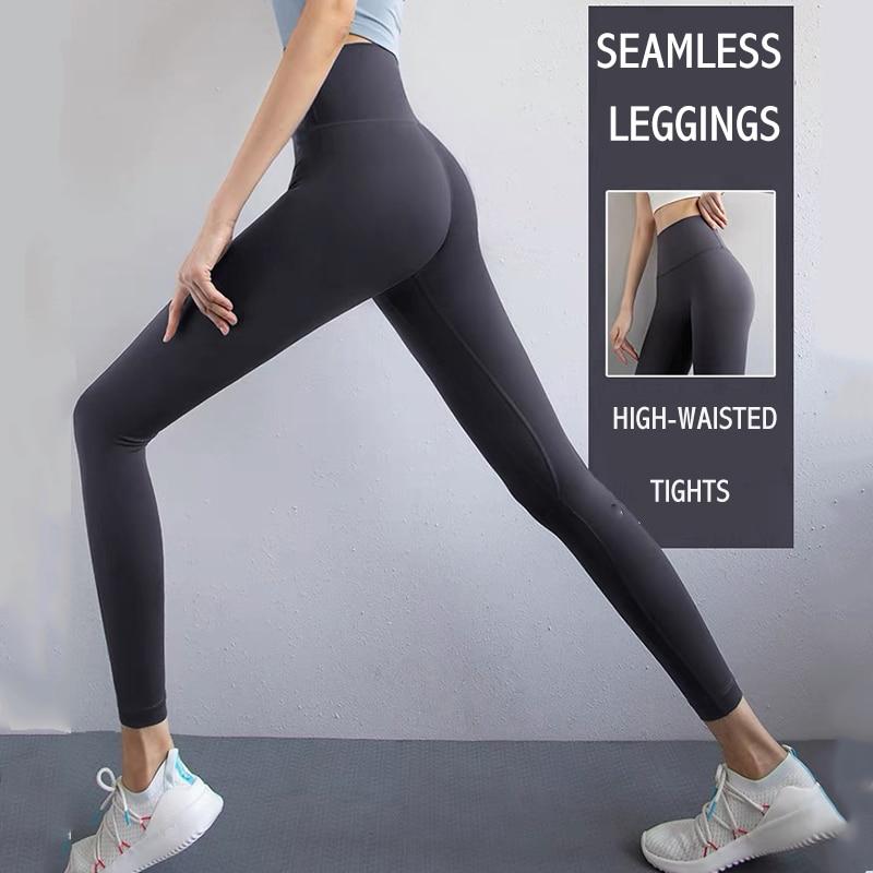 Lulu Seamless Leggings for Fitness Women's Joggers Sports Pants Gym High Waist Yoga Sportwear Clothi