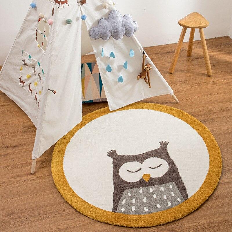 البومة صديقة للبيئة جولة الأطفال السجاد الكرتون الحيوان غرفة نوم السرير لعبة حصيرة للزحف