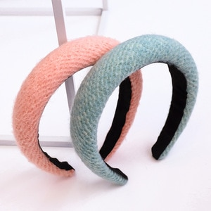 7 Color Women Hairbands Fashion Sponge Knitting Hairband Women Hair Head Hoop Sweet Girls Hair Headband Lady Hair Band 1PC 3.5cm