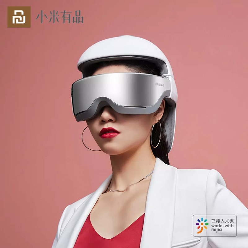 Promo Smart Bluetooth Massage Helmet Head Eye Neck 3 in1 3D Massager Intelligent Voice Control With Music From Xiaomi Youpin
