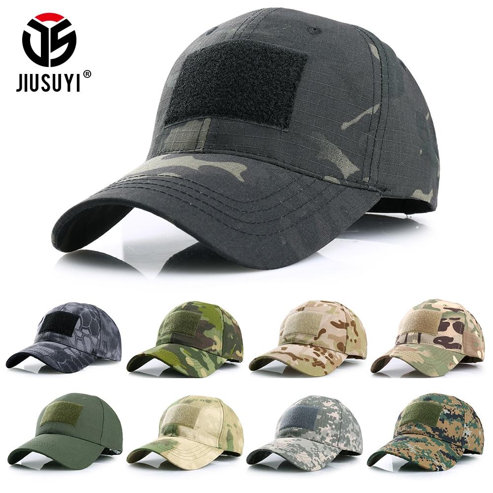 Multicam Camouflage Baseball Cap Adjustable Trucker Hat Tactical Military Army Airsoft Hunting Snapback Visor Sun Hat Men Women