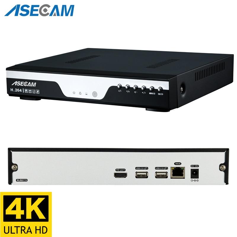 4K Ultra HD NVR Video Recorder H.265 Onvif Network 8MP IP Camera RJ45 P2P XMeye Video Surveillance System