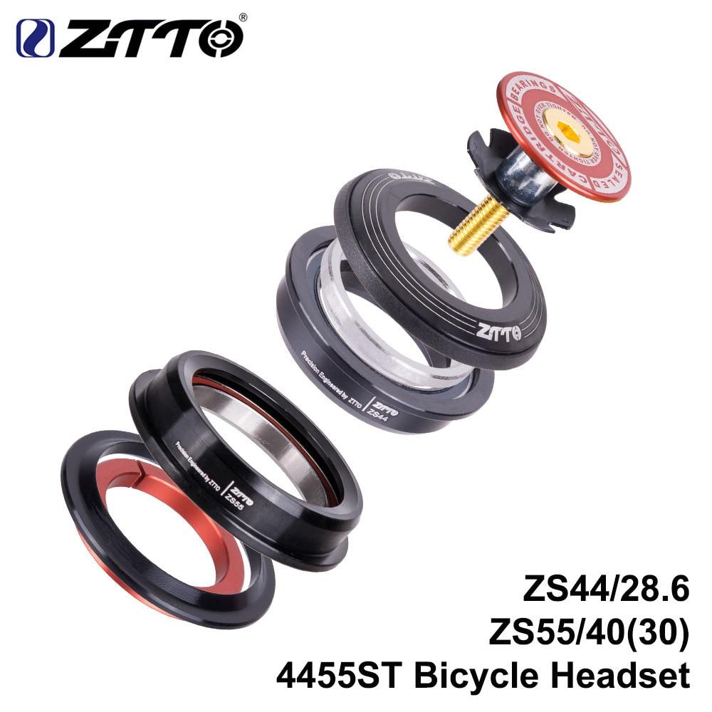 ZTTO-auricular MTB, nuevo 4455ST ZS44 ZS55, recto y cónico Universal de 1,5 pulgadas, horquilla de 28,6mm, pila cero, integrado con Cups, bicicleta de carretera
