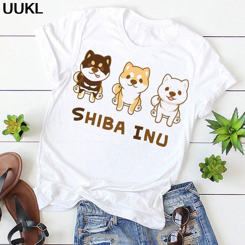 Women Clothes 2020 Summer T Shirt Harajuku Kawaii Shiba Inu Dog Letter Female T-shirt Fashion Aesthetic Streetwear Tshirt Tops