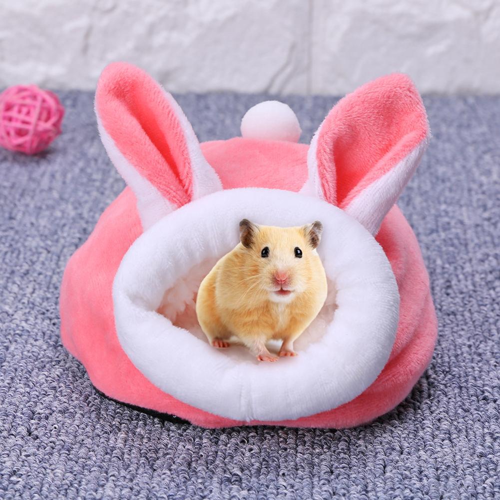 Mascota hámster para dormitorio, Mini Animal de peluche cálido, cama para perro,...
