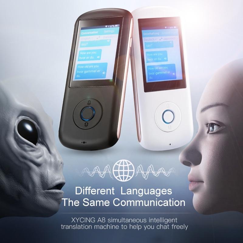 XYCING-مترجم محمول فوري ، صوت ذكي ، 35 لغة ، 4G WIFI ، عالمي عبر الإنترنت