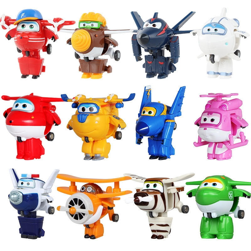 Super Wings Action Figure Toys 19 Styles Mini Airplane Wing Deformation Robot Toy Transformation Anime Cartoon Toy Children Gift