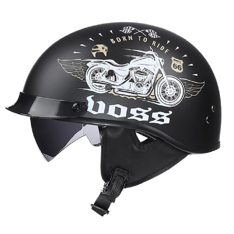 Adult Helmets For Motorcycle Retro Half Cruise Helmet Prince Motorcycle GERMAN Helmet Vintage Motorcycle Moto M L XL XXL darth vader helmet the black series cosplay adult helmet premium pvc helmet prop for adult
