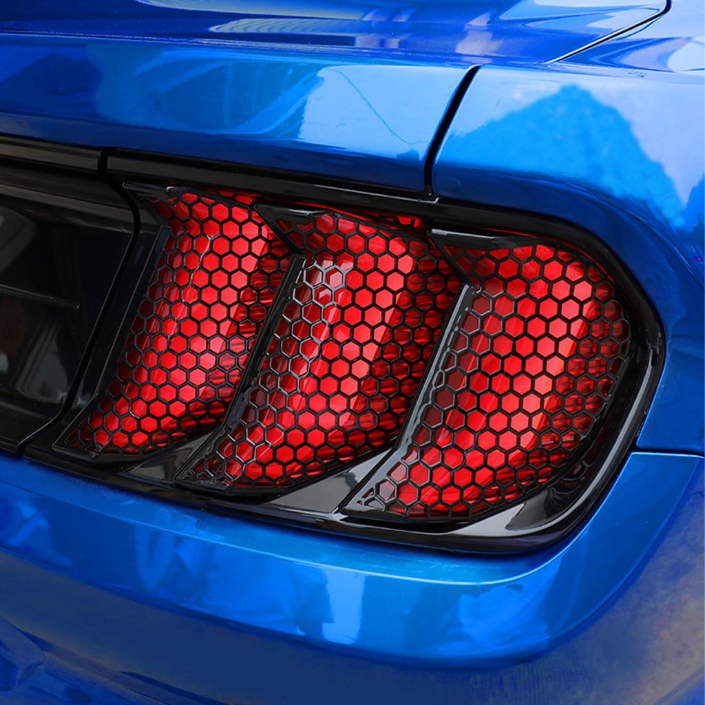 ABS ثلاثية الأبعاد العسل الذيل غطاء خفيف هود الضوء الخلفي ملصق ، 6 قطع مناسبة لفورد موستانج 2018 2019 2020 سيارة ملصق.