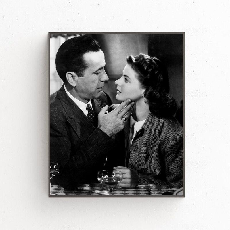 Póster de Arte de estrella de seda para decoración de pared de 12x18, 24x36 pulgadas, de la película Alexa Bogart e Ingrid Bergman