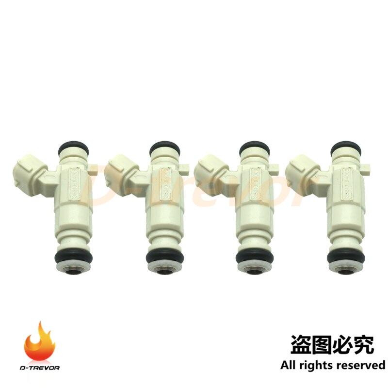 4 Uds OEM 35310-04000 inyector de combustible boquilla para Kia Picanto Mk2 1.0L VR7 1,0 TA 2005-2009 de 3531004000