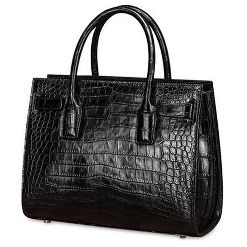 lukani new crocodile skin women bag lady crocodile handbag crocodile women handbag female crocodile bag