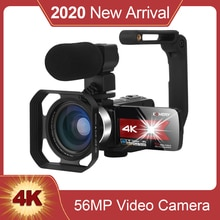 New Product 4K Digital Video Camcorder 56MP WiFi Night Vision Built-in Fill Light Touch Screen 16X V