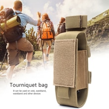 Tourniquet Storage Bag Nylon Flashlight Holster Medical Scissor Molle Pouch for Outdoor Sports Stora