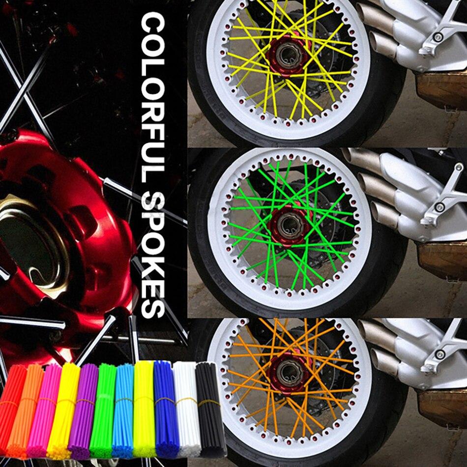 Accesorios de motocicleta 72 uds, cubierta de llanta, rueda de radios, envoltura de tubo para Glide Go Kart diferencial Honda Cbr 600 F4 carenado Yz 125