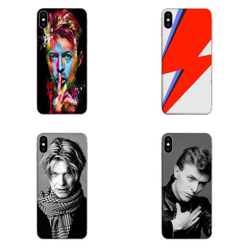 Funda protectora mini de TPU de David Bowie para Galaxy J1, J2, J3, J330, J4, J5, J6, J7, J730, J8, 2015, 2016 y 2017