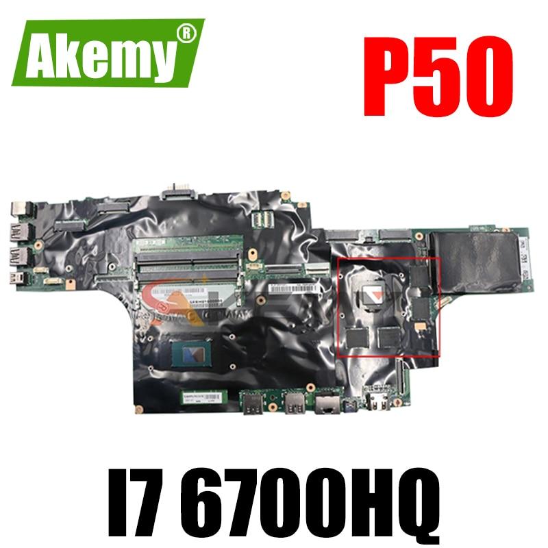 Akemy لينوفو ثينك باد P50 اللوحة المحمول وحدة المعالجة المركزية I7 6700HQ اختبار موافق FRU 01AY481 01AY480 01AY445 01AY449 01AY453 01AY361