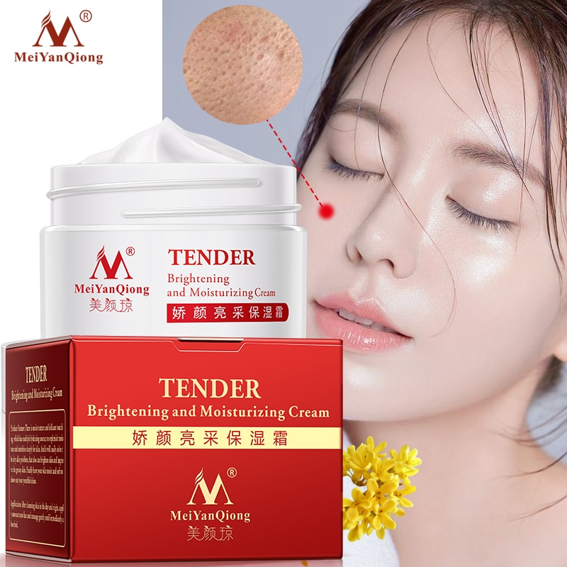 MeiYanQiong Moisture Cream Shrink Pores Skin Care Face Essence Anti-Aging Whitening Wrinkle Remover Face Cream Hyaluronic Acid