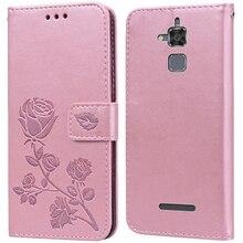 Luxury Leather Flip Book Case for Asus Zenfone 3 Max ZC520TL/ Pegasus 3 X008D Rose Flower Wallet Sta