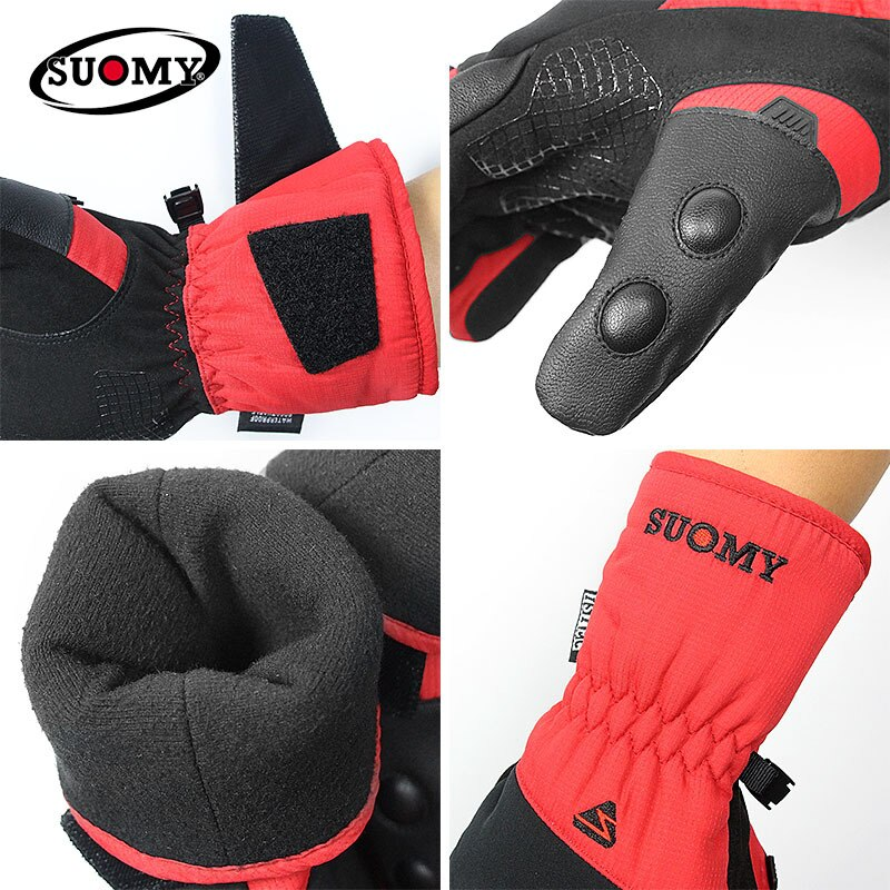 Motorcycle Gloves Waterproof Winter Moto Gloves Thermal Fleece Lined Winter Touch Screen Non-slip Motorbike Riding Gloves enlarge