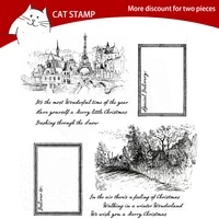 city countryside transparent clear stamps for scrapbooking card making photo album silicone stamp diy decorative crafts