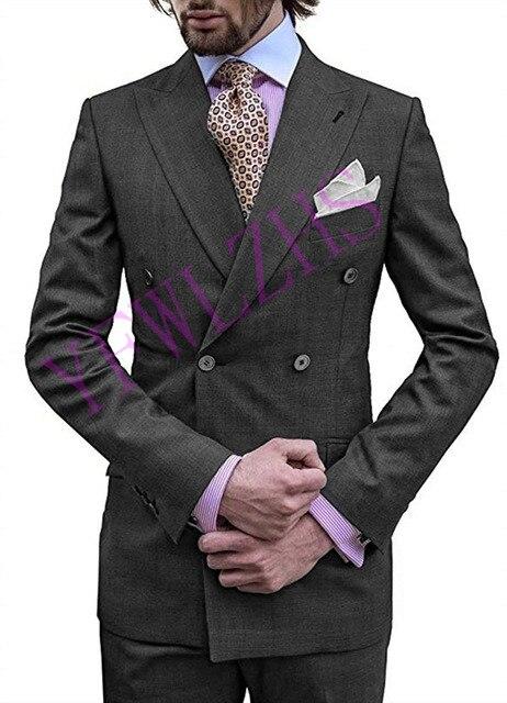 بدلة زفاف أنيقة للرجال ، بدلة زفاف مزدوجة الصدر ، سترة رجالية ، عشاء حفلة موسيقية (جاكيت + بنطلون + ربطة عنق) K27