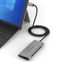 Lention Cavo lungo USB C Multiporta Hub con 4K HDMI, 4 USB 3.0, tipo C Adattatore di Ricarica per MacBook Pro 13/15 (Thunderbolt 3)