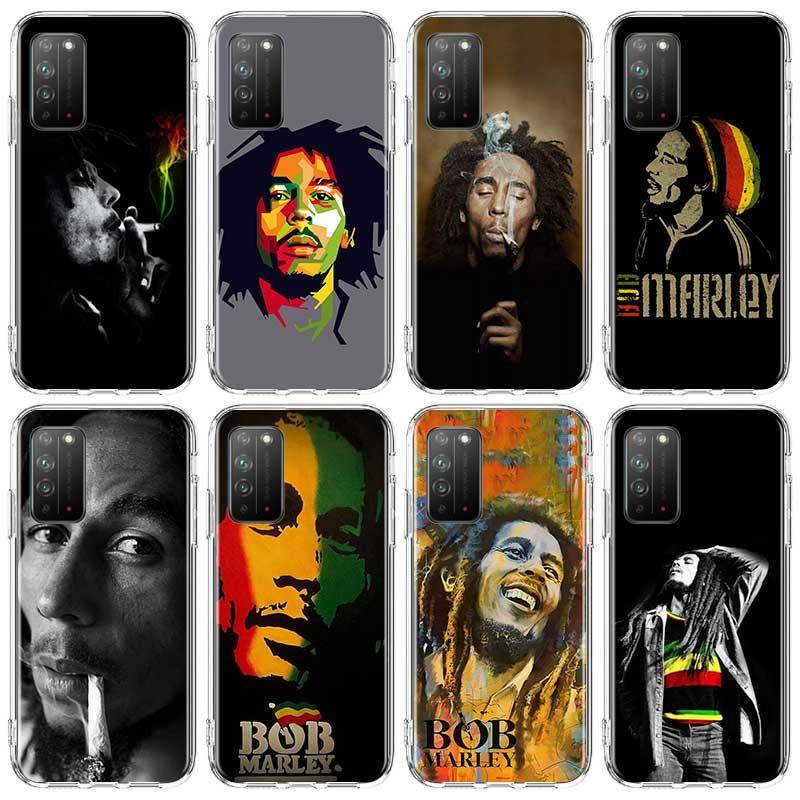 Bob marleys leão rasta reggae silicone estojo para huawei honor 8x 8a 9x 9s 9c 9a 10x 5g 10 20 lite 20 pro 20s 20e jogar couqe capa