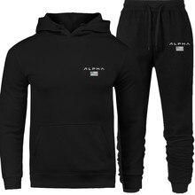 2020 männer Hohe Qualität Alpha Industries Brief Druck Mode Männlichen Hoodie anzug Männer/Frauen Herbst und Winter Neue Marke sweatshir