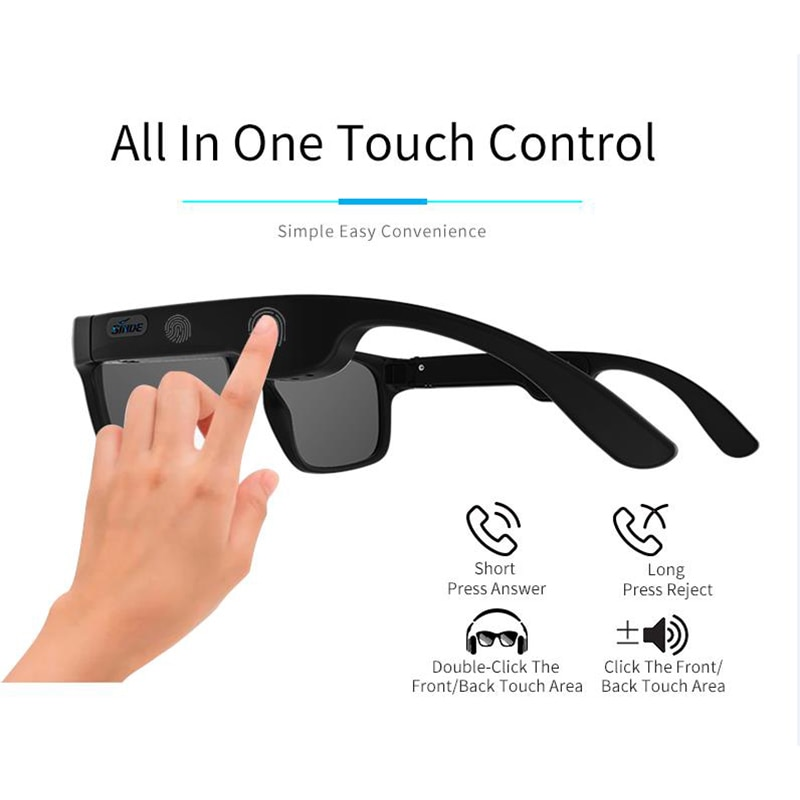 Bone Conduction Wireless Bluetooth 5.0 Smart Glasses Stereo Headset Polarized Sunglasses Can Be Matched With Prescription Lens enlarge